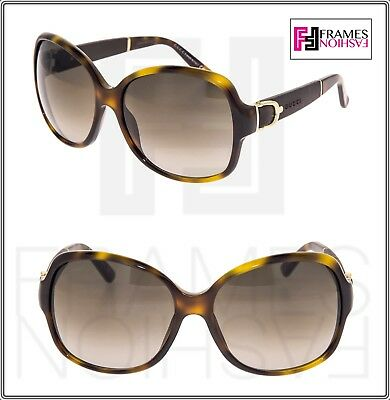 258ed1f107 GUCCI GG3638 S BUCKLE Leather Sunglasses Brown Tortoise Gold Gradient 3638