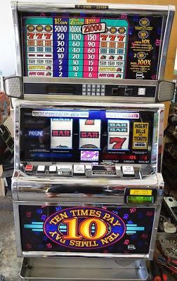 "IGT  ""10X PAY  SLOT MACHINE Coined 25 cent   * VEGAS SLOTS * three coin w/papers"