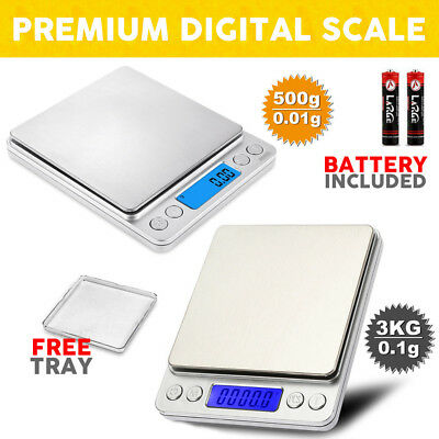 Kitchen Food Weight Postal Scales Digital LCD Electronic Balance 3KG/500G