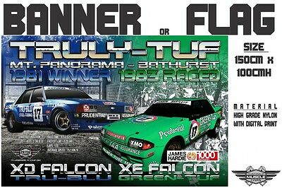 Musclecar Truly-tuf XD Falcon and XE Falcon display banner / flag