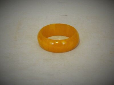 "Genuine Art Deco Bakelite "" Egg Yolk "" Bangle Simichrome Tested Great Colour"