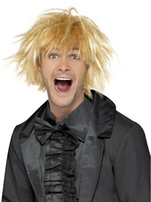 Blonde Crazy Caveman Wig Adult Mens Smiffys Fancy Dress Costume