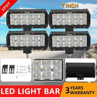 4×7inch CREE LED Work Light Bar Spot Flood OffRoad Driving SUV 4WD 4x4 Reverse