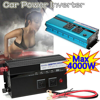 1000W - 4000 Watt Peak Power Inverter DC 12V to AC 110V for RV Truck Cars Pickup