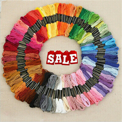 50 Color Egyptian Cross Stitch Cotton Sewing Skeins Embroidery Thread Floss SP