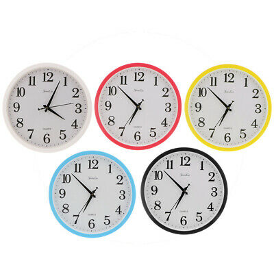 "Colorful Wall Clock, Quartz Battery Operated 12"" Round Home/Office/School Clock"