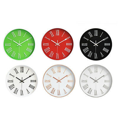 Wall Clock, Quartz Battery Operated Roman Numerals Home/Office/School Clock