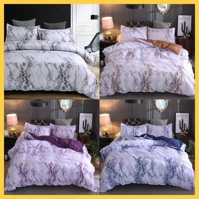 Marble Bed Quilt/Doona/Duvet Cover Set Bedding Set Pillowcases Queen/King Size