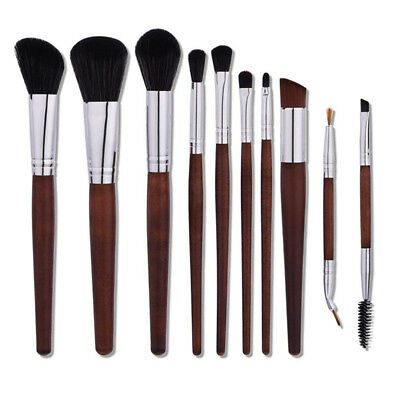 10Pc Professional Makeup Brushes Toothbrush Eyeshadow Power Foundation Brush Set