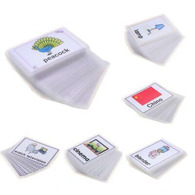 Kids Baby Word Activity Playing Flash Cards Educational Learning Pocket Card