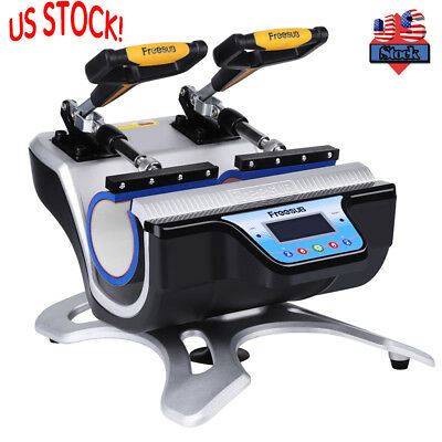 Double Station Digital Heat Press Transfer Sublimation Machine Cup Coffee Mug US