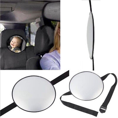 Adjustable Easy View Rear Baby Child Back Seat Car Safety Mirror Headrest Mount