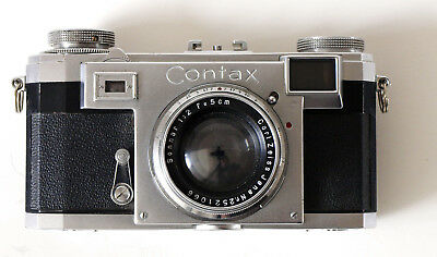 Zeiss Ikon Contax IIa mit Sonnar 1:2, f=5 cm (Contax 2a) - Color Dial + Ikophot