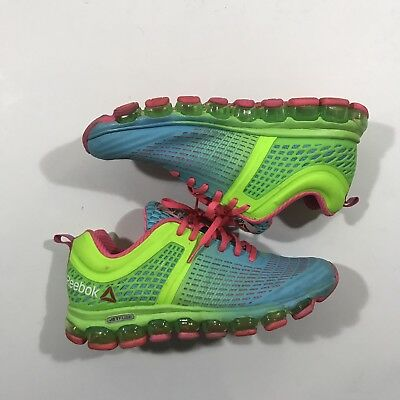 the best attitude 55ec3 eeadf Reebok Jetfuse Nanoweb Womens Running Shoes Size 10 Neon Green Air Pocket