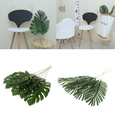 5x Large Tropical Leaves Artificial Palm Leaf for Hawaiian Luau Party BBQ Decor