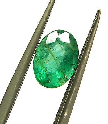 0.75 Ct Natural Green Emerald Loose Gemstone Oval Stone - 18613