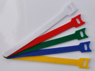 100 Pack Reusable Cable Ties - Choice of Colours - Genuine UK Seller