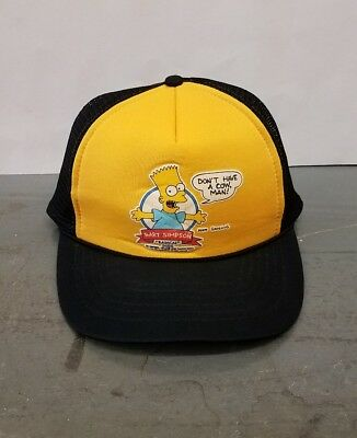 RARE Vintage VTG 90s 1990 Bart Simpon Radical Dude Don't Have A Cow Trucker Hat