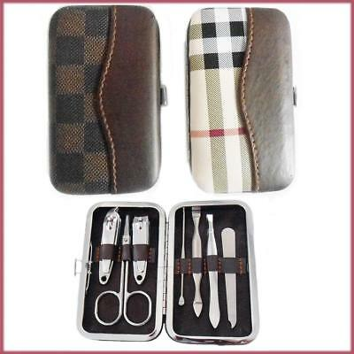 7 pc Nail Care Manicure Pedicure Set Kit Travel Case Grooming Clippers Cuticle