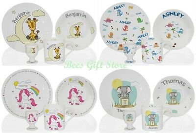 Personalised BREAKFAST Dinner SET Presents for Children BABY Kids Birthday Gifts