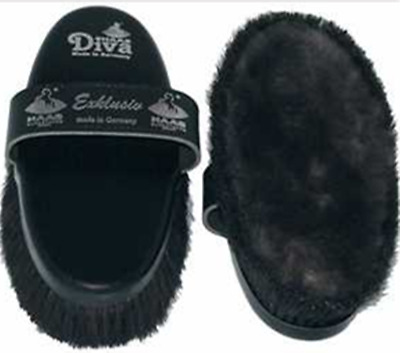 HAAS Diva Exclusive Sheep Skin And Bristle Body Brush For Extra Shine