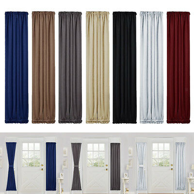 1 Panel Solid Lined Thermal Blackout Grommet Window Curtain Darkening Drapes