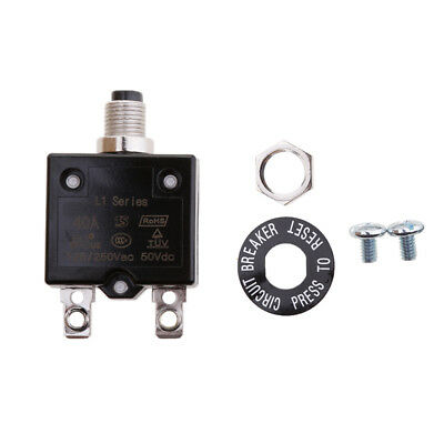 Push Button Resettable Thermal Circuit Breaker Overload Protector 20/25/30/40A