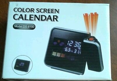 1+A3  Digital Lcd Colour Screen Weatherstation Calendar Alarm Clock Time Project