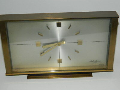 Vintage Seth Thomas brass battery mantle clock Scotland,in full working order.