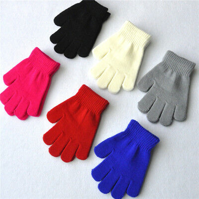 Kids Warm Mittens Full Finger Gloves For Sport Cycling Fishing Snowboard Running
