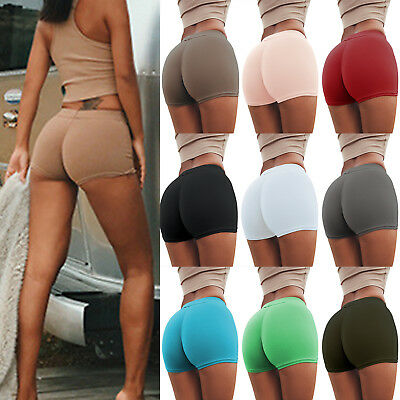 Women's Sport Short Yoga Gym Workout Waistband Skinny Dancing Tight Fitness Pant