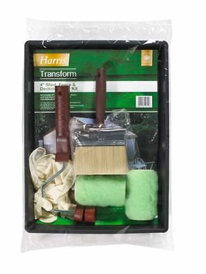 Harris Transform Paint Roller & Brush Kit Shed Fence & Decking Set