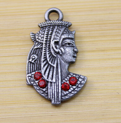 6/20/50 pcs Ancient beautiful Egyptian princess alloy Charms Pendants 29x17 mm