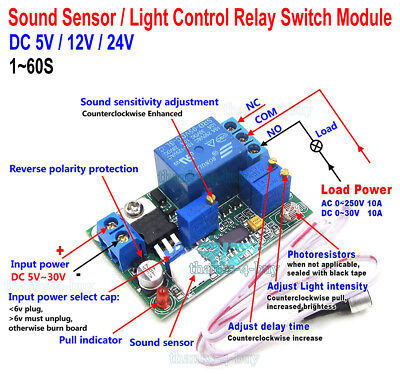 DC 12V 9-FUNCTION Delay Relay Controller Motor Reverse Cyclic Timers