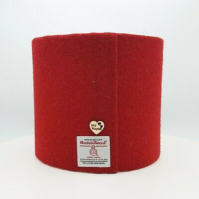 Harris Tweed Lampshade - Red - suitable for Ceiling Light or Table Lamp Shade
