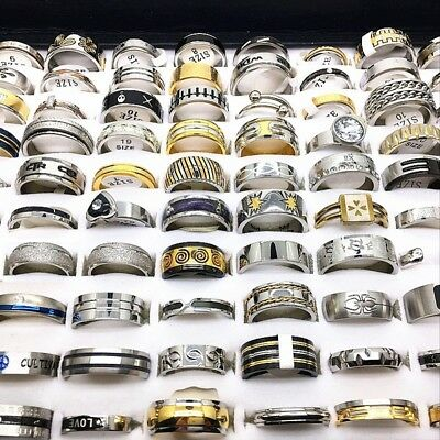 wholesale 1000pcs mix lot top men's women's stainless steel rings Jewelry gifts
