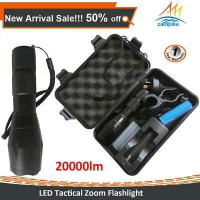 20000lm FA100 Shadowhawk Rechargeable Tactical Flashlight CREE LED Zoom Torch