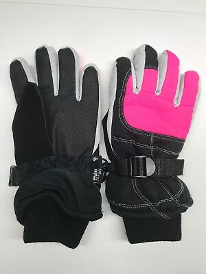 Thinsulate Insulation Gloves 80 Gram Womens Black Pink White