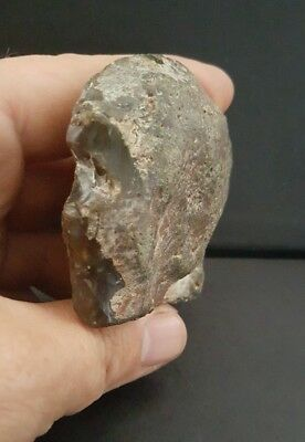 upper palaeolithic/mesolithic portable rock art human profile stone