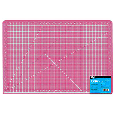 "12"" x 18"" PINK/BLUE Self Healing 5-Ply Double Sided Durable PVC Cutting Mat"