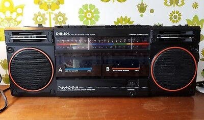 Vintage 80's Philips D8334 Boombox Radio Cassette Rare Edition 1986