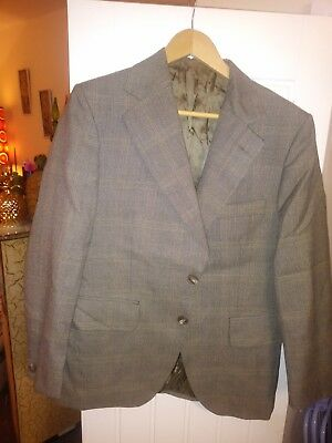 mens vintage Dunn and Co suit green check 40 chest