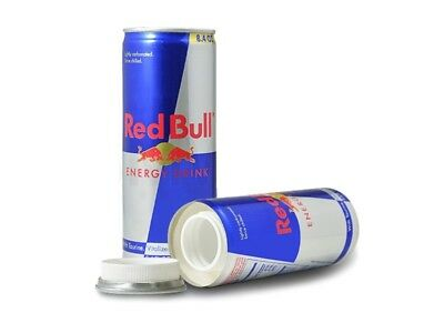 Red Bull 8.4oz Soda Can Diversion Safe Stash Secret Container Hidden Personal