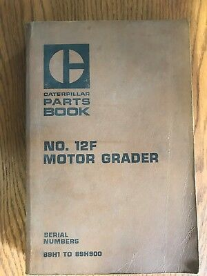 Caterpillar NO. 12F Motor Grader parts book