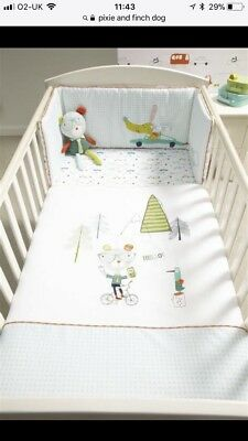 Mamas And Papas Pixie And Finch Cot Bed Quilt