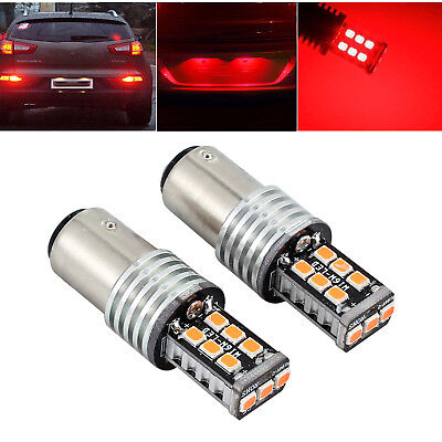 2 X 12v Bay15d 1157 Canbus P21/5w Voiture 15 Led Frein Tige Feux Stop 2835