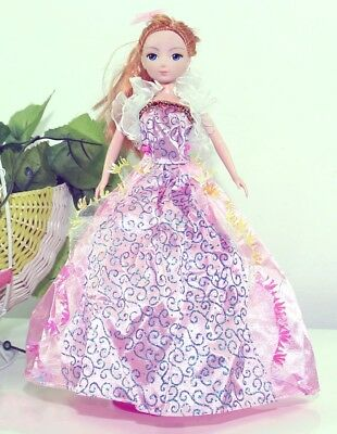 Handmade Party Dress Fashion Pinkp Clothes For Barbie Doll Outfit Gown Wedding