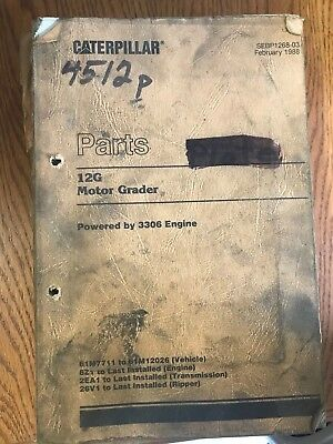 Caterpillar 12G Motor Grader parts book