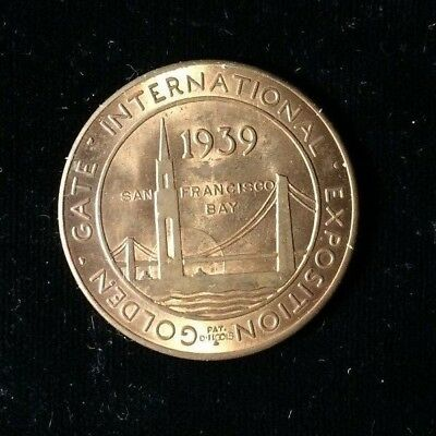 1939 Golden Gate Expo Bronze Medal ~ Neat Piece Of History !