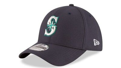 SEATTLE MARINERS NEW Era Navy Diamond Era 39Thirty Flex Fit Hat 7e80b11271b